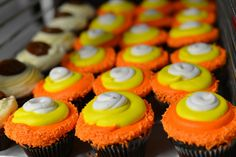 Halloween themed and cream filled cupcakes