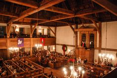 Christmas eve worship service at old ship church