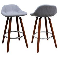 Bring added comfort and style to your home with these handsome 26-inch counter stools.
