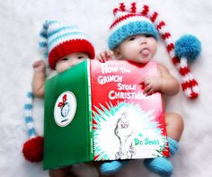This one would be cute for Christmas. Could also do other well loved childrens books for birth announcement or newborn pics