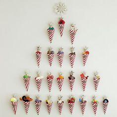 DIY sweetie advent calendar | Budget christmas ideas | Ideal home | Photo gallery | housetohome.co.uk