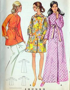1960s Misses A Line Robe or Housecoat
