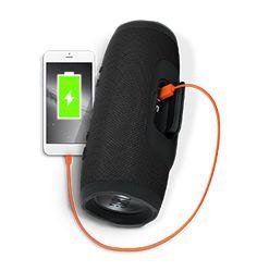 Opp til 20 timers spilletid, Kan lade mobilen din, Vannsikker (IPX7), Innebygd mikrofon for telefonsamtaler, JBL Bass Radiator