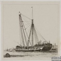 A Sheer Hulk  in Portsmouth Harbour  Edward William Cooke RA (London 1811 - Groombridge 1880)  National Trust Inventory Number 836520