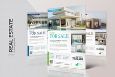 Real Estate Agency Flyer by ThemeDevisers on Real Estate Flyers, Real Estate Business, Real Estate Agency, Promotion, Real Estate Flyer Template, Interior Design Business, Brochure Layout, Construction, Business Illustration