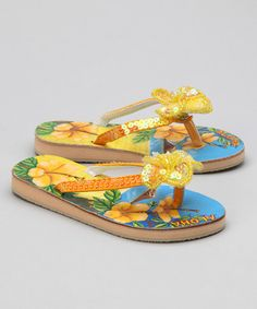 Take a look at this Yellow Aloha Sandal by Fairy Dreams on #zulily today!
