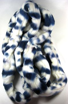 Shibori Falkland Wool Top for Spinning and Felting by yarnwench, $18.00