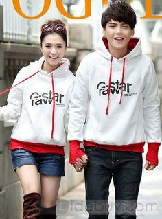 New Fashion Pretty Lovers Long Sleeves Hooded Couple Outfits, Sleeves