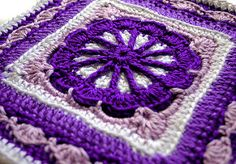 Here is a beautiful and easy to stitch square to add to all your sampler afghans.