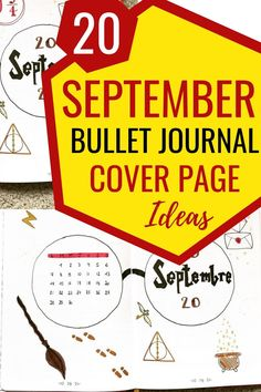 You'll love these September bullet journal ideas. I have covered 20 different themes for this September 2020. #septemberbulletjournal #bulletjournalideas