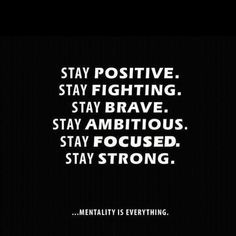 Mentality is everything