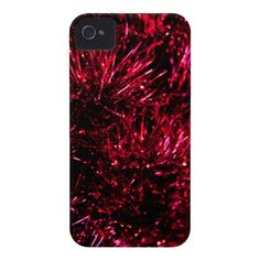 Red tinsel iPhone 4 case Barely There