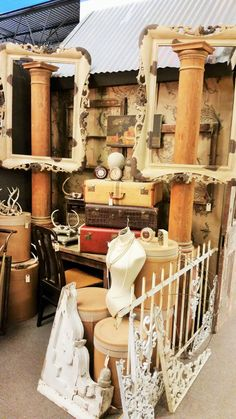 Ruby Grace's at Grapevine Antique Market. Visual Merchandising. Antique / Vintage Goods Booth Display.