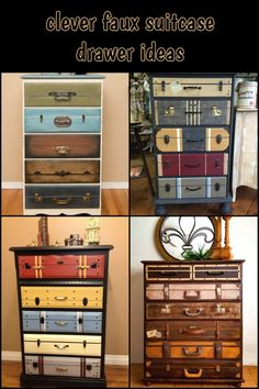 Give Your Old Dresser a New Look with This Beautiful Faux Suitcase Drawer Idea!