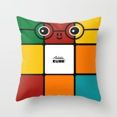 Rubik Throw Pillow