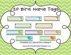 Bird Name Tags