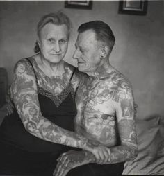 Beautiful <3 This will be me (someday, a long time from now...after I find the right one to be the tattooed old guy next to me!)