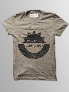 Rise & Grind - Men's Tan Tri-Blend T-Shirt in Enrique Saucedo's store on Consignd - $24.00