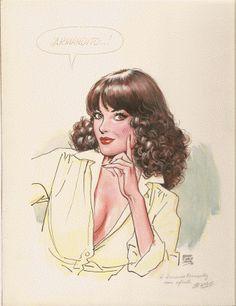 "Cartoon illustration for ""Helena"" by Ernesto García Seijas #comicbookartists #comicbooks #artists #fumetti"