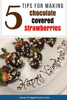 5 Tips for Making Chocolate Covered Strawberries How To Make Chocolate, Homemade Chocolate, Making Chocolate Covered Strawberries, Nutritious Snacks, Evening Snacks, Save Money On Groceries, Fresh Fruits And Vegetables, Strawberry, Healthy Eating
