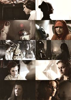 Like mother, like daughter - Padme Amidala and Princess Leia