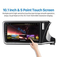 10.1 inch Touch Screen Android 5.1.1 radio DVD Player GPS navigation System for 2014 2015 2016 Honda CITY(RHD) with Bluetooth Music Mirror Link OBD2 3G WiFi Backup Camera 1080P Video AUX Steering Wheel Control