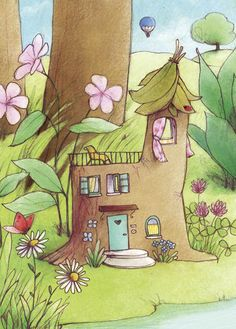 My Flower Fairy House ~ Elena Temporin
