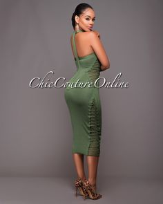 Chic Couture Online - Fiorenza Green Lace-Up Sides Luxe Bandage Dress.(http://www.chiccoutureonline.com/fiorenza-green-lace-up-sides-luxe-bandage-dress/)