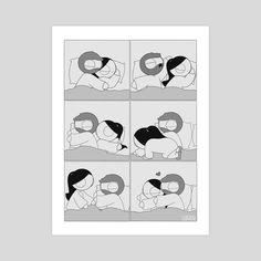 Shop gallery quality art prints by Catana Chetwynd. Cute Couple Comics, Couples Comics, Comics Love, Couple Cartoon, Funny Comics, Relationship Comics, Cute Relationship Goals, Cute Relationships, Feel Better Quotes
