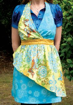 Annabelle apron - love the contrast overlay, super cute! A ruffle along the edge would give it a little extra something, as well.