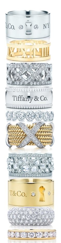 Tiffany & Co Rings / To be more luxurious visit www.luxxu.net  #jewelry #jewellerydesigners #luxury fashion, jewellery brands