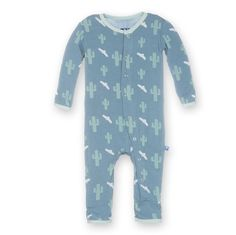 Kickee Pants Baby Boys Print Fitted Coverall Dusty Sky Cactus 36 Months *** See this fantastic item. (This is an affiliate link ). Little Boy Outfits, Toddler Outfits, Baby Boy Outfits, Kids Outfits, Newborn Boy Clothes, Cute Baby Clothes, One Piece Outfit, Baby Warmer, Kids Fashion Boy