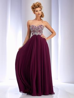 Clarisse Simple Strapless Prom Dress Style 2566 in Magenta. Long, flowy lace up corset back prom dress available in plus sizes! Find retailers at: http://clarisse.us/locator/index.php