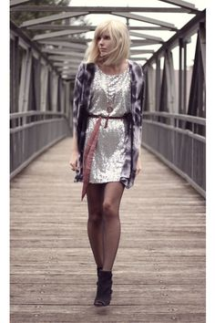 Sequin Dress Dressed Down <3