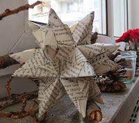 Stern aus altem Buch + Anleitung / Star made of bookpages + tutorial