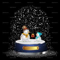 CLIPART SNOWMAN BALL | Royalty free vector design