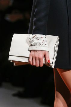 valentino monogram clutch from the f/w '13 show