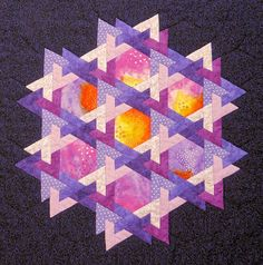 wow, i love this one. 3 shapes. one hexagon, two different half hexagons. so so pretty.