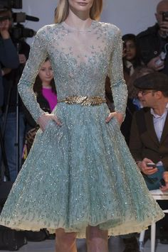 zahair murad 2014 | Zuhair Murad Spring Couture 2014 Light Blue · Inspiration by Color