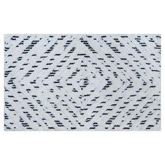 Interdesign Abstract Bath Rug  Blackwhite 21X34  Bath Rugs Gorgeous Black And White Bathroom Rugs Design Inspiration