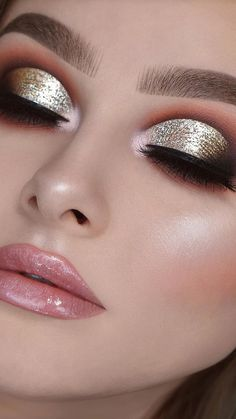 Eye Makeup Steps, Makeup Eye Looks, Eye Makeup Art, Smokey Eye Makeup, Makeup For Brown Eyes, Eyeshadow Makeup, Pink Eyeshadow, Eyeshadow Palette, Face Makeup