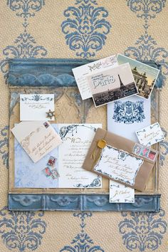 Beautiful Blue Damask!