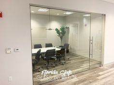 These Office Glass Doors elevates the style and personality of your space Call us for a Free Estimate 561-997-6990 Shower Enclosure, Glass Installation, Glass Office, Shower Doors, Glass Office Partitions, Palm Beach Florida, Glass Top Table, Glass Door, Frameless Shower Doors
