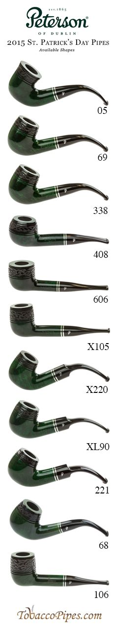 Peterson St. Patrick's Day 2015 Model Options (currently sold out of the 106 and 68 shapes)