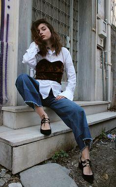 More looks by Eyridiki K: http://lb.nu/eyridikikoffa  #romantic #street #vintage