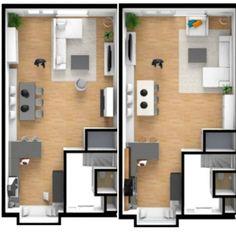 6 vind-ik-leuks, 5 reacties - . (@huisjeaandemeerval) op Instagram: 'Indeling. Oke, het meerwerk staat al vast en de tv aansluiting staat zoals op de rechter…' Small Office, House Layouts, Living Room Designs, New Homes, Interior, Inspiration, Furniture, Instagram, Home Decor