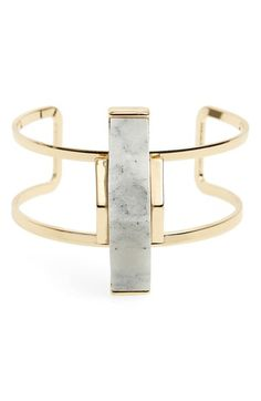Sole Society 'Abstract Stone' Open Cuff available at #Nordstrom