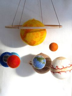 Big set of planets mobile, Solar System Mobile, Planet Mobile, Waldorf Educational Toy, Scientific Woolen Sculpture Solar System Model Project, Solar System Projects For Kids, Solar System Crafts, Solar System Mobile, Solar System Planets, Planet Mobile, Venus, Planet Crafts, Mobile Project