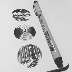 Kim Becker pen artwork