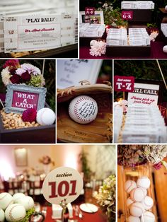 This couple really loves baseball and had a wedding theme based around that love!  How fun!